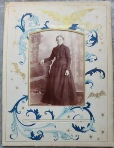 creepy victorian women | ... Victorian Woman in Amazing Photo Album Page with Bats, Spiders, Creepy