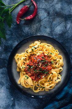 Cocina para burros: Tallarines de zanahoria con salsa arrabiata