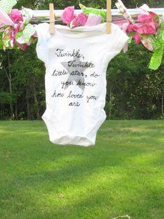 Twinkle Twinkle Little Star Onesie by SweetPeaGraffiti on Etsy, $12.00