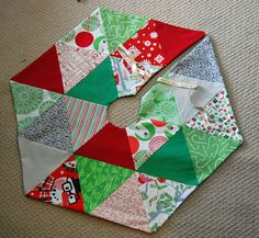 Hexagon Tree Skirt Tutorial. Jaceycraft.