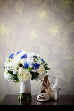 Beautiful blue bouquet: http://www.stylemepretty.com/2015/01/06/vintage-chic-philadelphia-fall-wedding/ | Photography: Grace Winter Of Asya Photography - asyaphotography.com