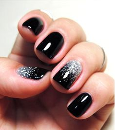 Gel Ombre Glitter Nails DIY http://www.cambio.com/2015/10/12/why-men-are-painting-a-single-fingernail-on-their-hands/