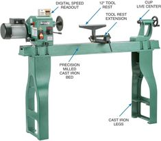 What's the best wood lathe for the money? Best budget wood lathe buying guide? What are the key features of wood lathe? Let's find out! #WoodLathe #bestwoodlathe #woodlathereview Wood Turning Lathe, Wood Turning Projects, Best Wood Lathe, Grizzly Tools, Turning Machine, Small Lathe, Cast Iron Beds, Woodworking Lathe, Woodworking Magazine