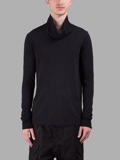 RICK OWENS RICK OWENS MEN'S BLACK LONG SLEEVES T-SHIRT. #rickowens #cloth #t-shirts