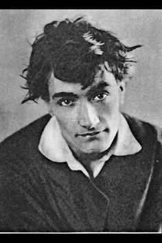 Antonin Artaud. I like the seeming casualness of this and the downward angle. And the eyes!