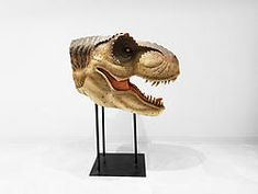 Large T-Rex Head on Stand Mouth Open Mouth Open, Animal Statues, Animal Heads, T Rex, Museum, Backyard, Hand Painted, Painting, Animals