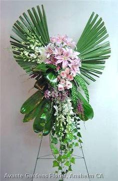 The Floral World of Flower Arrangements Casket Flowers, Altar Flowers, Church Flowers, Funeral Flowers, Unique Flowers, Beautiful Flowers, Angel Flowers, Pink Flowers, Funeral Floral Arrangements