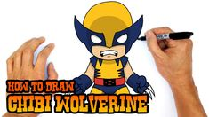 How to Draw Wolverine (Chibi)- Kids Art Lesson