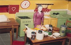 Purple Woman/Kitchen/Second View, 1978 by Laurie Simmons