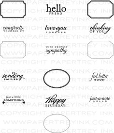 Little Labels Stamp Set  15.00  ***GOES WITH STUFF I HAVE***