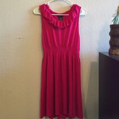 Spense Women's Dress  Beautiful pink, tank top cut dress, ruffle detail on neckline. Brand new Spense Dresses Mini
