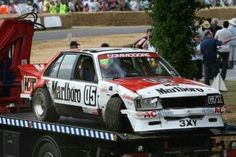 Totalled Brock Commodore at Goodwood Festival of Speed Australian Muscle Cars, V8 Supercars, Goodwood Festival Of Speed, Touring, Race Cars, Super Cars, Racing, Life Crisis, Vehicles