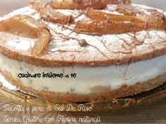 TORTA RICOTTA E PERE DI SAL DE RISO SENZA GLUTINE, una torta per le occasioni, davvero gustosa e facile da preparare, farete un figurone.