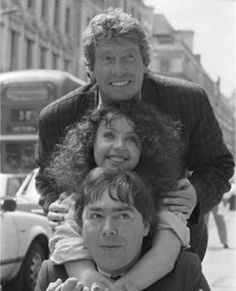 Michael Crawford, Sarah Brightman and Andrew Lloyd Webber. | lol, I feel like they all look awkward, except Michael :)