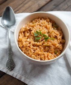 Simple Craves & Olive Oil: brown rice with onions & garden peppers