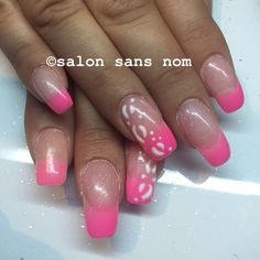 Pink fade with leopard print.