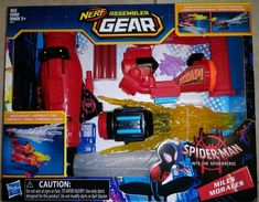 NERF Assembler Gear Spider-man Into The Spiderverse Miles Morales for sale online Lego Marvel, Marvel Avengers, 5th Birthday Party Ideas, Birthday Cake, Cool Nerf Guns, Baby Girl Dress Design, Nerf Toys, Batman Spiderman, Black Panther Party