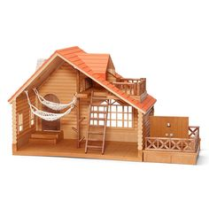 Calico Critters Lakeside Lodge Play Set, Brown