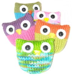 Owl Puffs: not sure what I would do with these once I made them but so damn cute!