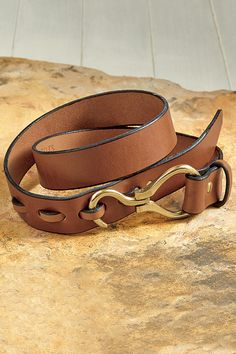 Hoof Pick Leather Belt From Wiley Brothers: Exceptional Casual Clothing for Men & Women from #TerritoryAhead $169.00