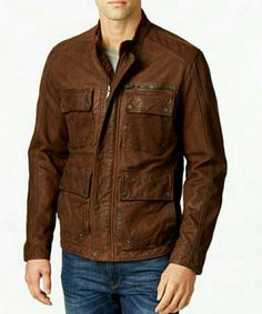 Lucky Brand Men's Field Bomber Leather Jacket. M | Clothing, Shoes & Accessories, Men's Clothing, Coats & Jackets | eBay!