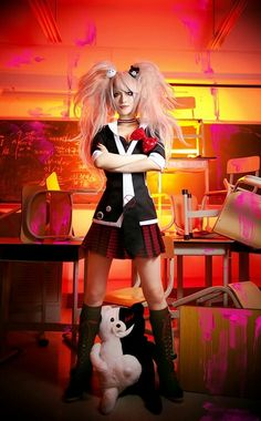 Danganronpa Cosplay Costumes With Tie And Accessory Anime Cosplay, Epic Cosplay, Cute Cosplay, Amazing Cosplay, Cosplay Outfits, Cosplay Girls, Cosplay Lindo, Hearly Quinn, Cosplay Characters