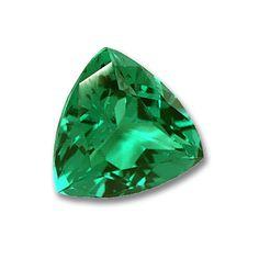 8x8mm Trillion Gem Quality Chatham-Created Cultured Emerald 1.40-1.71 Ct.