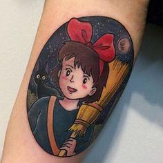 #kikisdeliveryservice tattoo submitted by @artronin9 #kiki #jiji #studioghibli #ghibliink #ghiblilove #ghiblinerd #ghiblitattoo #ghiblitattoos #otakutattoo #kawaii #anime #animenerd #animetattoo #animetattoos #miyazaki #miyazakihayao #hayaomiyazaki #nerdtattoos #disneypresents #tattoo #tattoos by ghiblitattoos