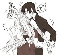 Sai and Ino, anime, manga, naruto, cute, love, kawaii, couple