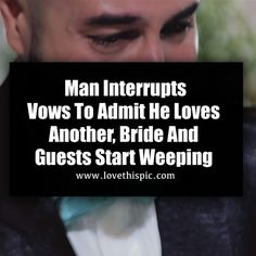Man Interrupts Vows To Admit He Loves Another, Bride And Guests Start Weeping wedding video videos viral viral videos viral right now trending viral posts
