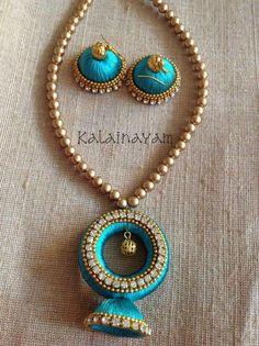 Silk Thread Bangles Design, Silk Thread Necklace, Silk Bangles, Beaded Necklace Patterns, Thread Jewellery, Jewelry Patterns, Beaded Jewelry, Terracotta Jewellery Designs, Indian Jewelry Sets