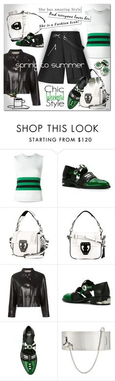 """""""TOGA, Embellished Cut-Out Shoes"""" by deneve ❤ liked on Polyvore featuring P.A.R.O.S.H., Toga, MSGM, Marni, Louis Vuitton, Eddie Borgo, polyvoreeditorial and toga"""