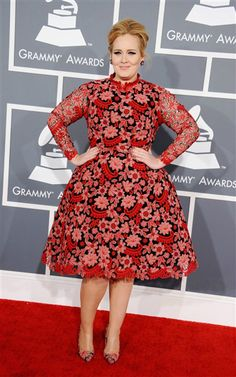 Adele attends the 55th Annual Grammy Awards at Staples Center in Los Angeles on Feb. 10, 2013.