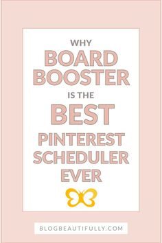 Tailwind or BoardBooster -- Which one is better? Check out these 3 amazing BoardBooster features that make it a much better investment! BlogBeautifully.com
