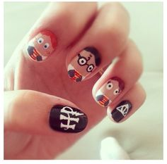 Harry potter nails @Kelly Campbell