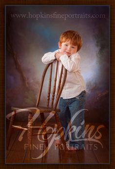 Walker's 3 year old portraits, by Hopkins Fine Portraits