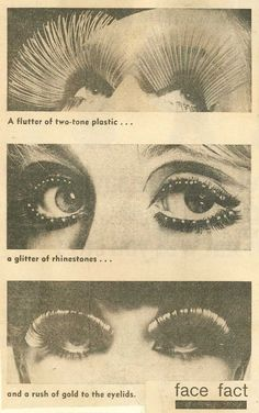 Vintage ad showing that lashes NEVER go out of fashion!  sassy3d.com