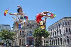 Frevo dancers - Recife, Pernambuco, #Brazil