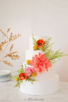 How To Make A Floral Cake Topper with Artificial Flowers