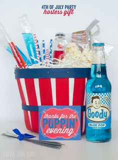 Hostess Gift Basket with Michaels  FREE Printable by Love The Day