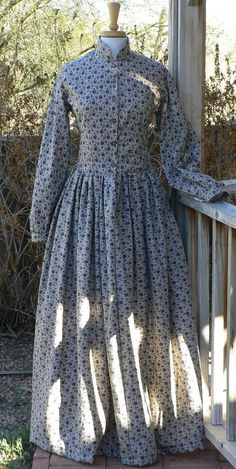 Civil War Victorian Camp Dress Historical Costume by ItsNotPajamas, $150.00