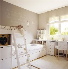 Cute for shared rooms Home Bedroom, Girls Bedroom, Deco Kids, Shared Rooms, Kid Spaces, New Room, Girl Room, Room Inspiration, Room Decor