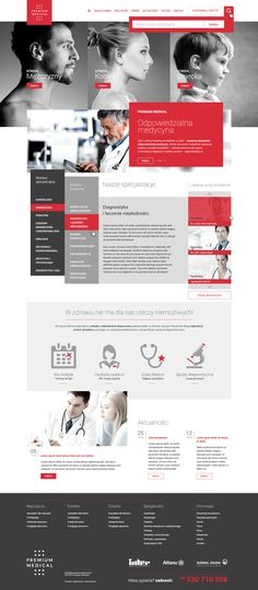 Webdesign for medical clinic from Warsaw, Poland. Full responisve.