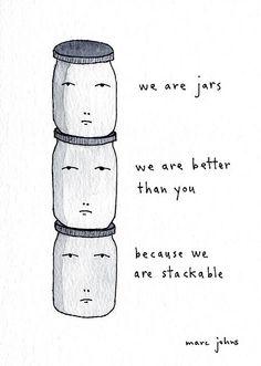 Superiority. By Marc Johns: Ya gotta laugh