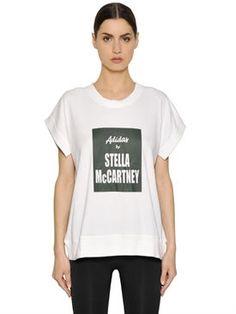 New Adidas By Stella Mccartney Yoga Cotton Blend Climalite T-Shirt fashion online. [$65]newtopfashion top<<