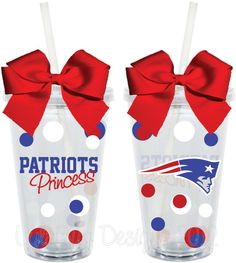 New England Patriots Princess Fan Inspired Personalized 16oz  Acrylic Tumbler. $15.00, via Etsy.