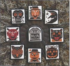 Throw back halloween cross stitch patterns.