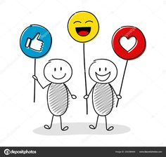 Download - Smiley cartoon people holding balloons with emoticons. Vector. — Stock Illustration Vector Stock, Eps Vector, Free Vector Images, Vector Free, Social Media Etiquette, Cartoon People, Pictogram, Emoticon, Caricature