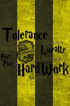 Hufflepuff by onejamephilly -- Harry Potter iPhone 4 Wallpaper. - Each contains the house crest and their main character traits. Also are included some notable house members.