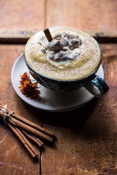 18 Sweet Pumpkin Treats that are Healthy too - Coconut Pumpkin Spice Latte Coffee Recipes, Pumpkin Recipes, Fall Recipes, Holiday Recipes, Tostadas, Pumpkin Breakfast Cookies, Pumpkin Cinnamon Rolls, Cinnamon Coffee, Vodka Drinks